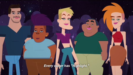 Group shot of queer characters
