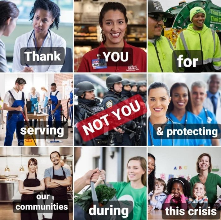 Thank you for serving our communities