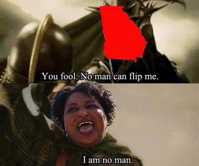 No man can flip me - I am no man